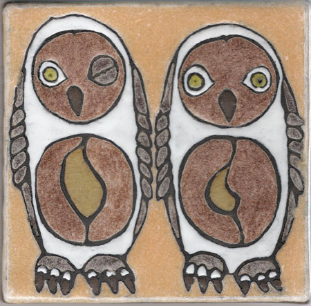 Two Owls, One Winking