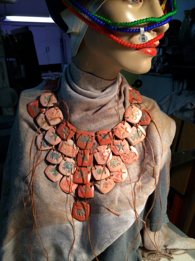 Necklace made with local glacial clay